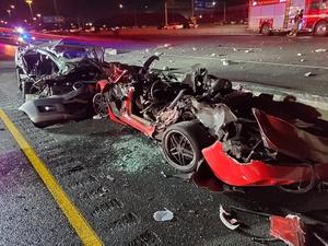 Фото: Twitter На фото: В результате аварии с участием трех транспортных средств 2 человека погибли, 4 получили ранения