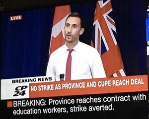 Фото: Twitter На фото: Правительство Онтарио будет придерживаться своего плана по ограничению роста заработной платы работникам государственного сектора